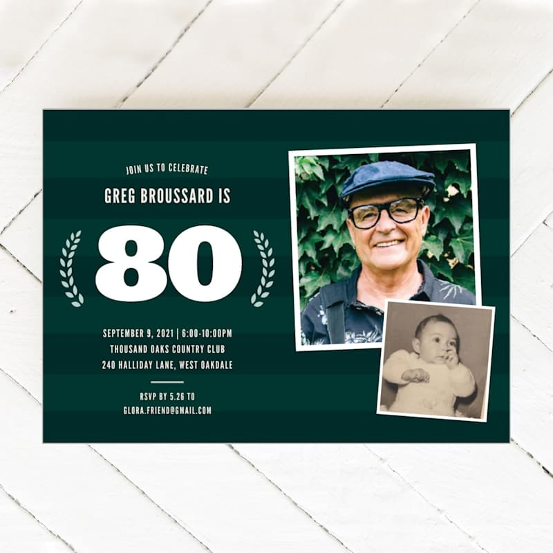 now_and_then_80th_birthday_party_invitations
