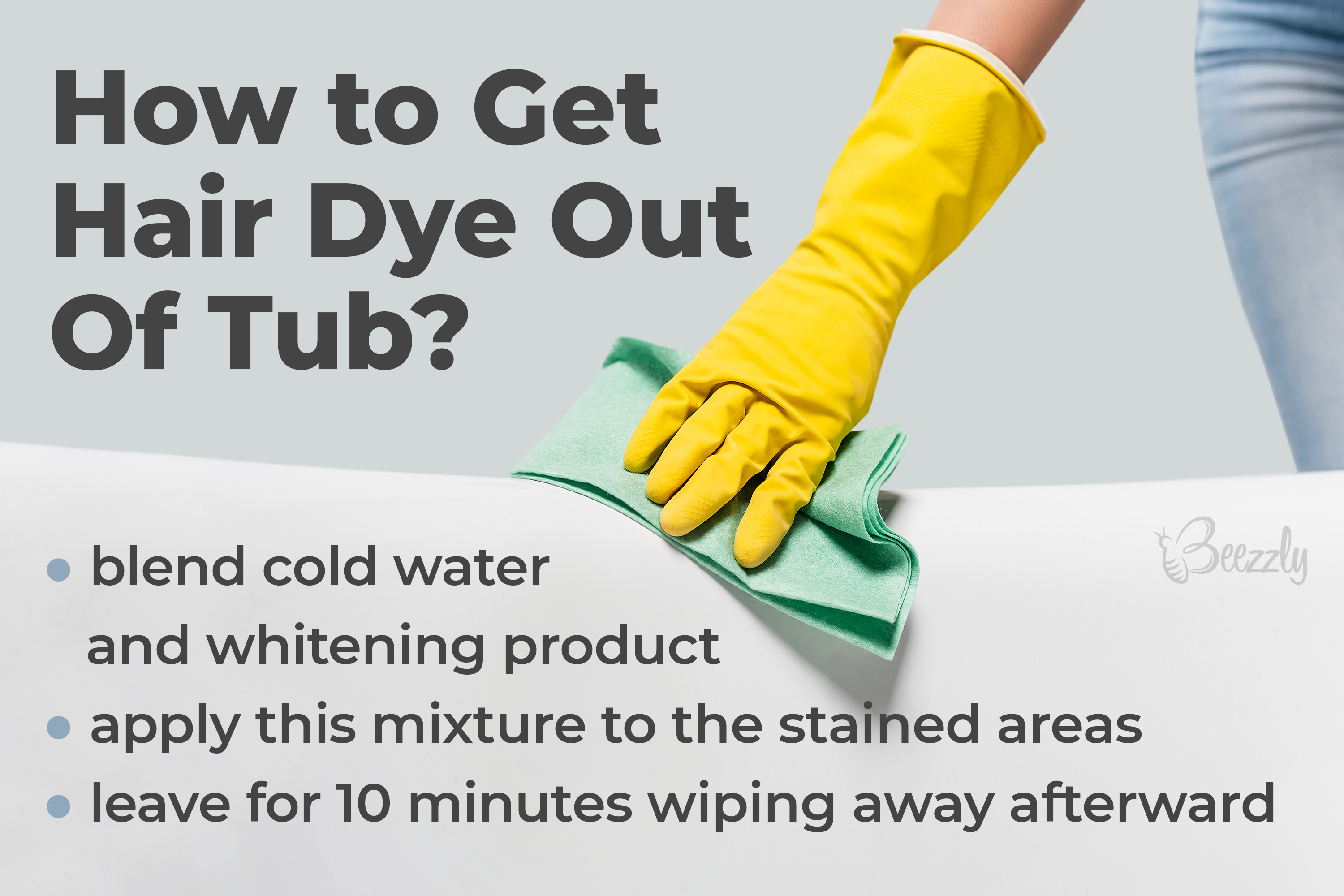 How to Get Hair Dye Out Of Tub