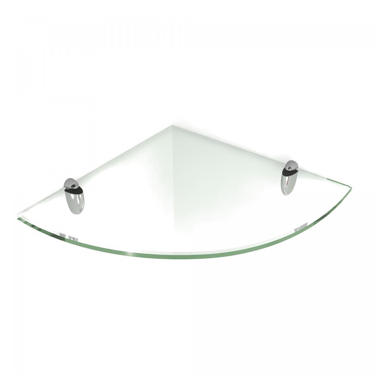 Quarter Circle Corner Glass Shelves