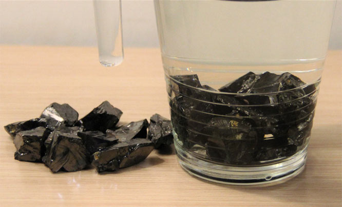 how to clean shungite for water purification