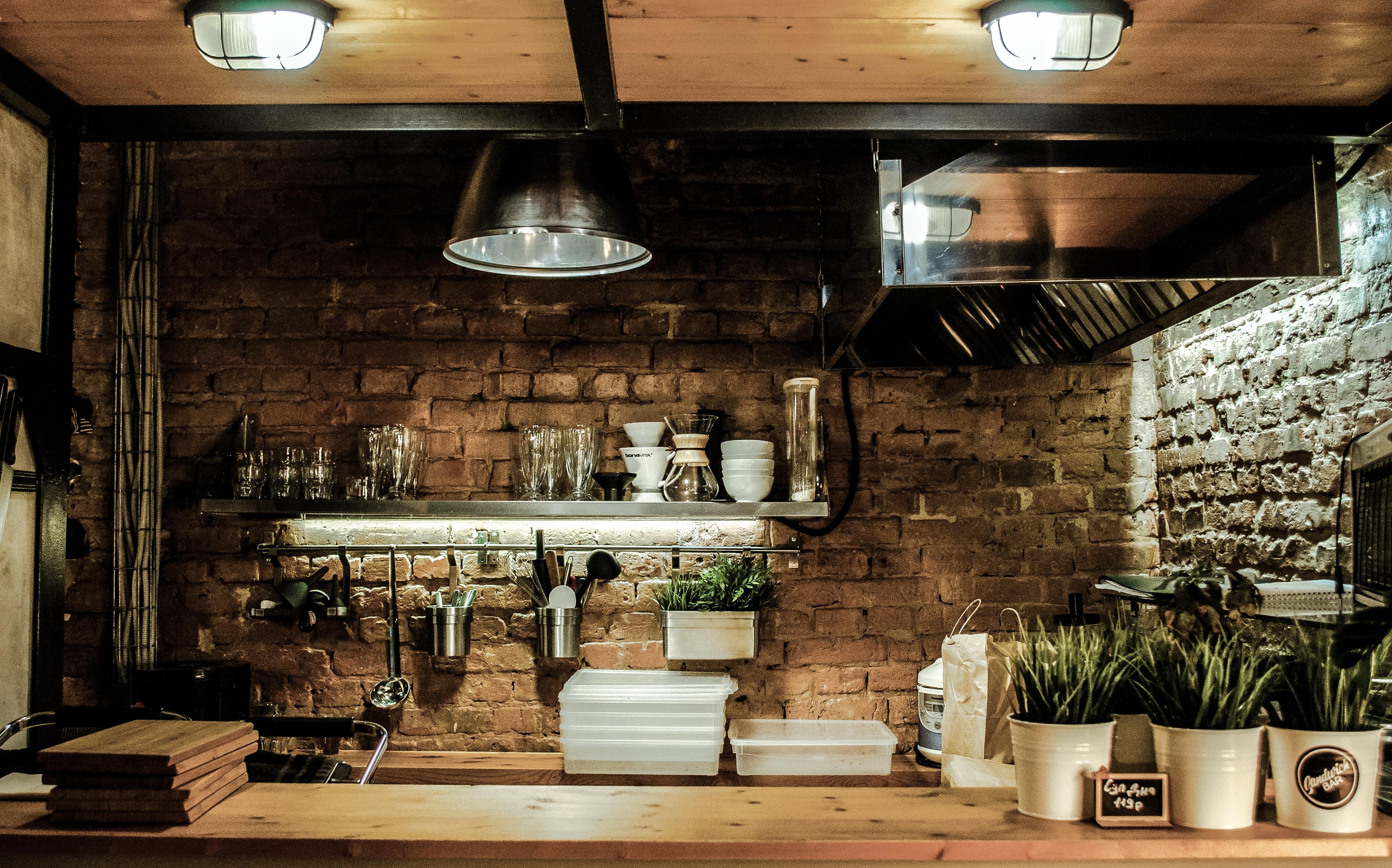 lamp on the kitchen