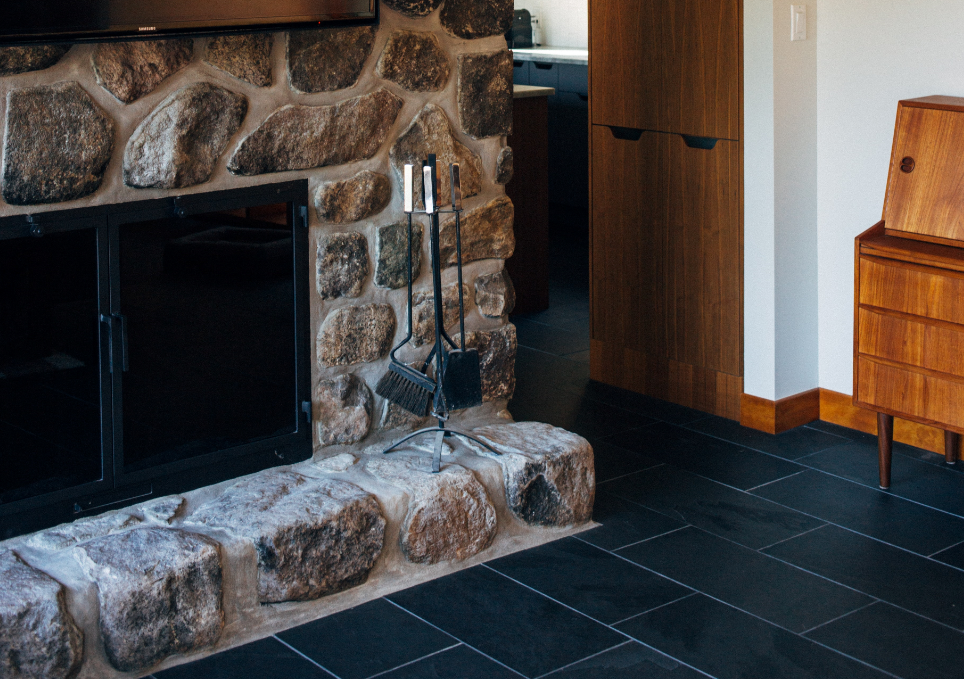 updating an stone fireplace