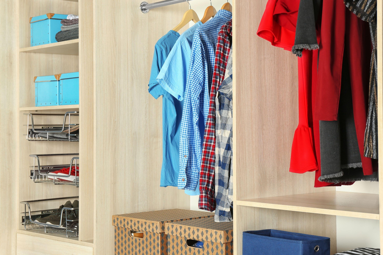 Custom made clothing closet