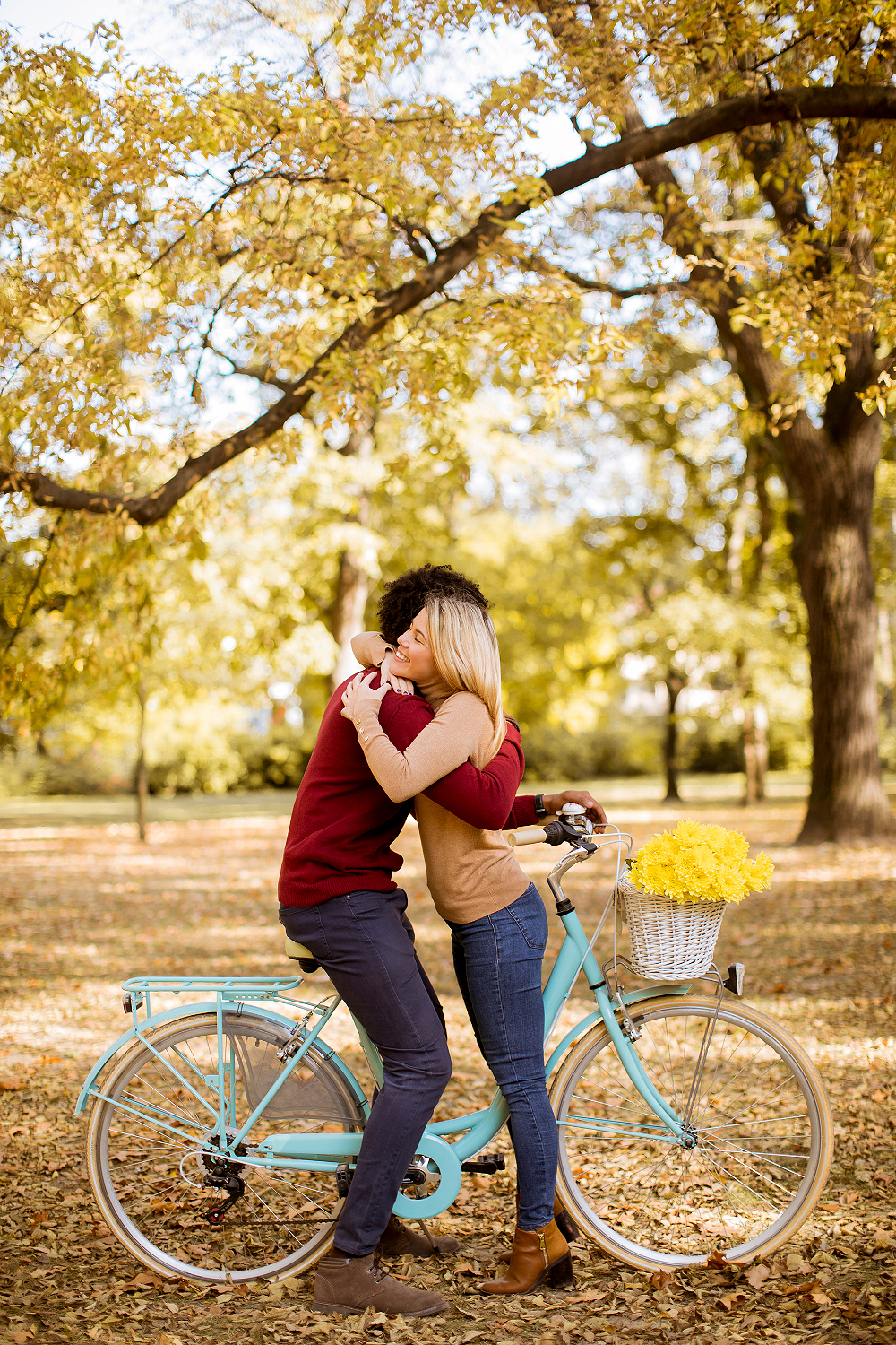 Me, autumn, and bicycle