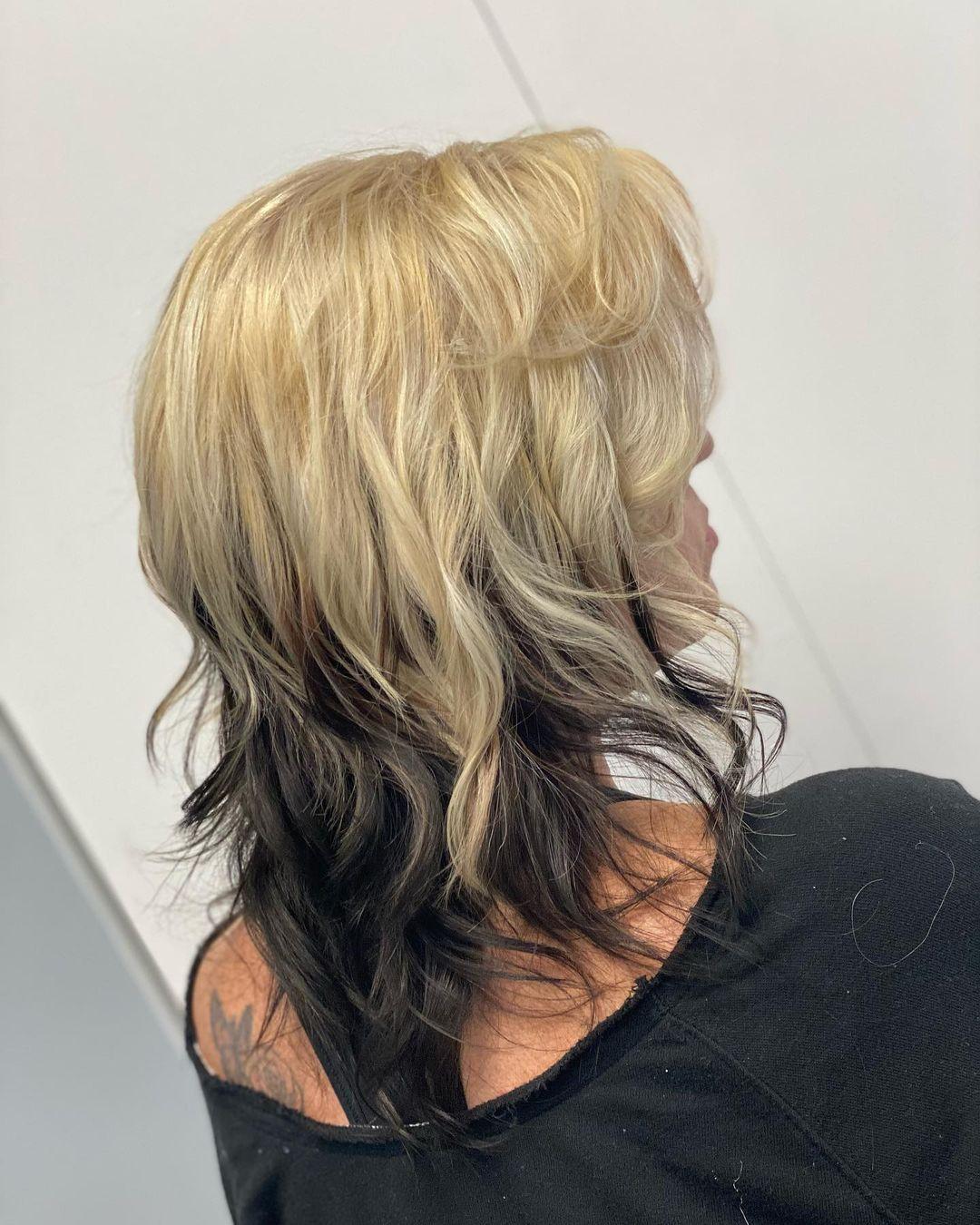 Top Half Blonde Bottom Half Black Hair
