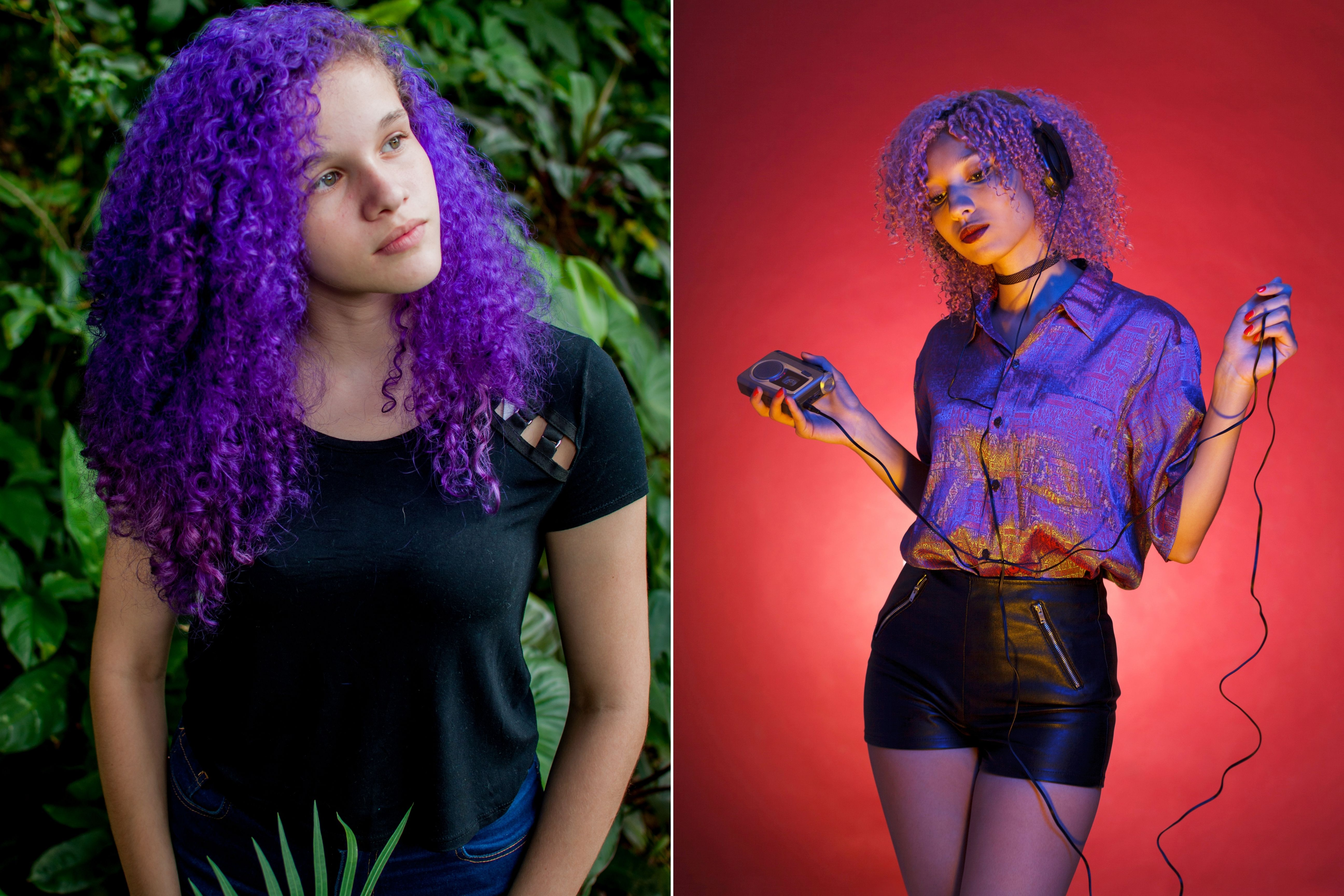 What Color Goes Good With Purple Hair