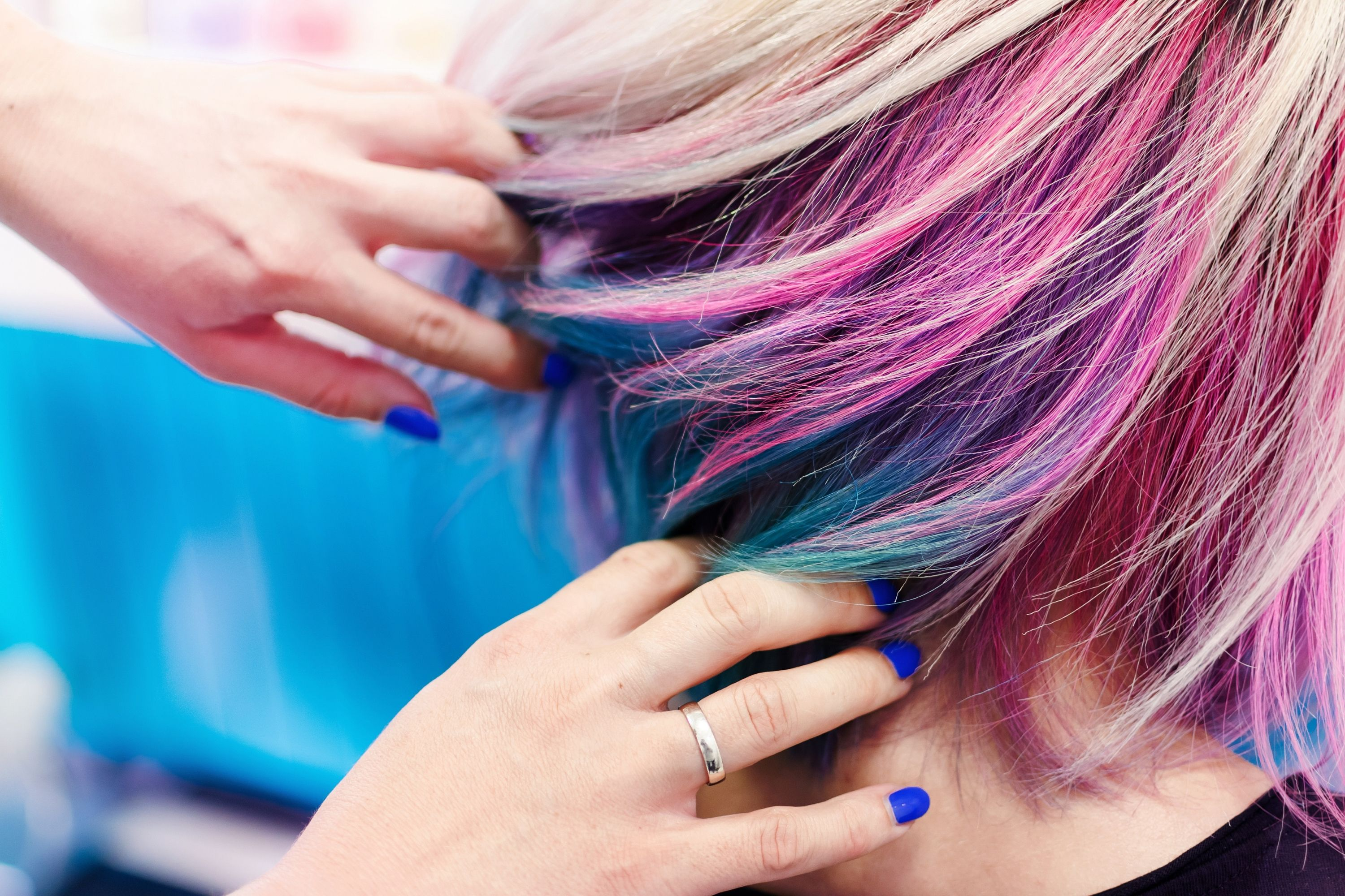 How to Dye Over Red Hair to Make It Purple
